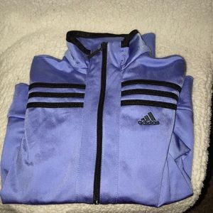 Adidas purple zip up